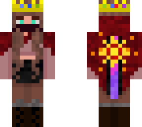 My OC is wearing a Technoblade crown